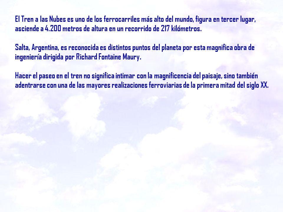 TREN A LAS NUBES SALTA REPÚBLICA ARGENTINA Canta: SOLEDAD Realización: Enrique Walter - Salta Realización: Enrique Walter - Salta