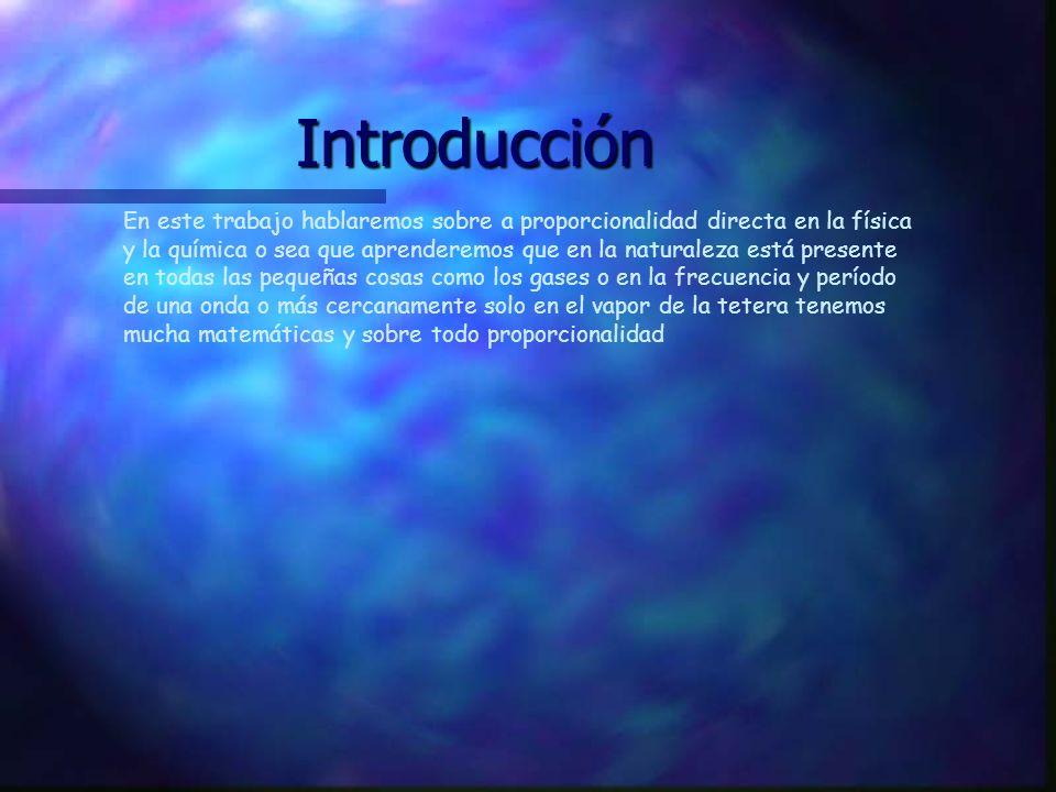 La proporcionalidad directa en la física y en la química Integrantes: ÇDavid Contreras ÇBenjamin Bravo ÇByron Fierro ÇCristian Rivera ÇVíctor Ortiz Profesor(a): Ana María Barriga.