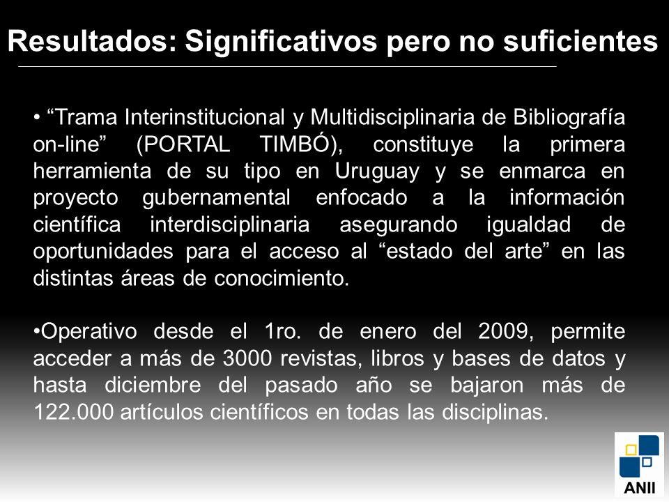 Trama Interinstitucional y Multidisciplinaria de Bibliografía on-line (PORTAL TIMBÓ), constituye la primera herramienta de su tipo en Uruguay y se enm