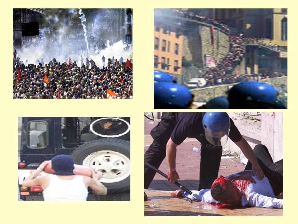 HISTORIA DEL MOVIMIENTO ANTIGLOBLALIZACIÓN LA PRIMERA VICTIMA MORTAL DE LA VIOLENCIA SE PRODUJO EN GENOVA JULIO 2001. OTRO HITO FUE LA SUSPENSIÓN EN 2