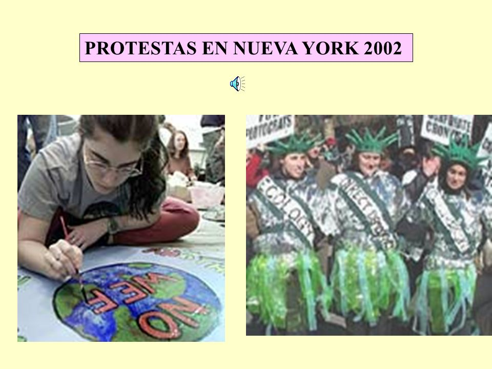 PROTESTAS EN NUEVA YORK 2002