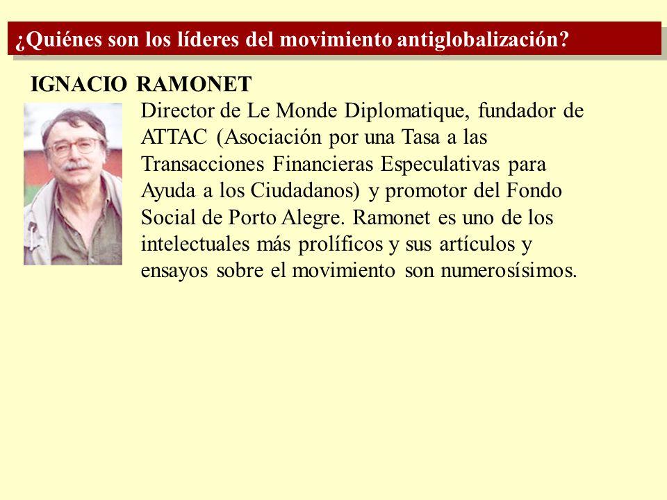 ¿Quiénes son los líderes del movimiento antiglobalización? HAZEL HENDERSON SUBCOMANDANTE MARCOS Líder del Ejército Zapatista de Liberación Nacional me