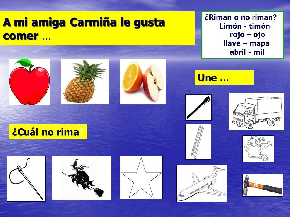 Jugar con los niños al diálogo de rimas a partir de los nombres propios. ¡Me llamo Rosario y me comí un canario! ¡Yo me llamo Ema, me gusta este tema!