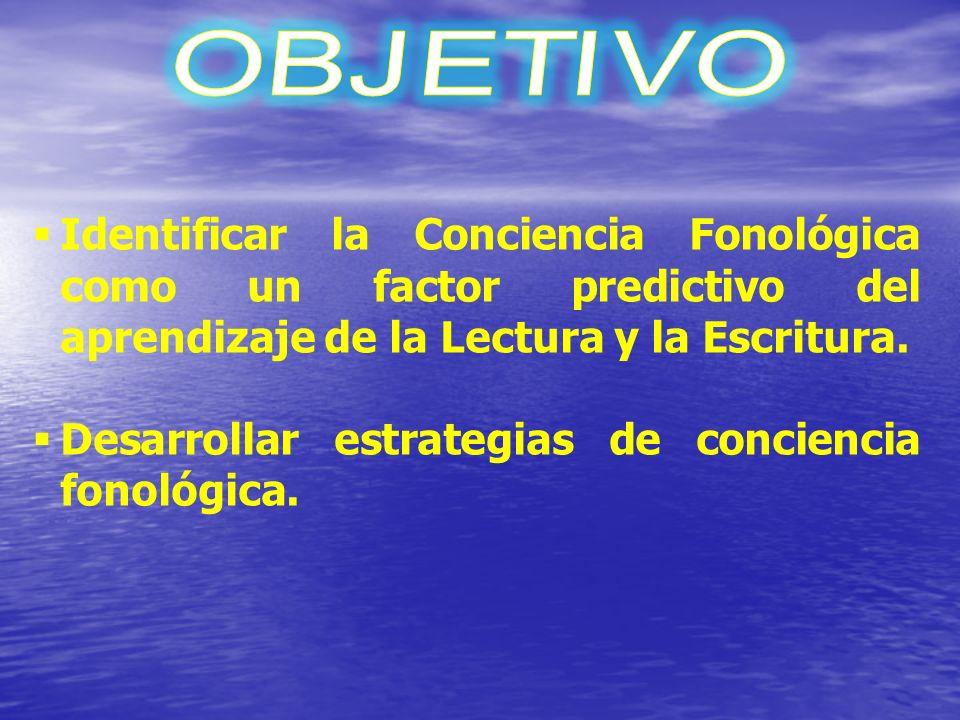 o Objetivo del taller o Relación entre Conciencia Fonológica y lenguaje escrito o ¿Cómo leemos y escribimos palabras.