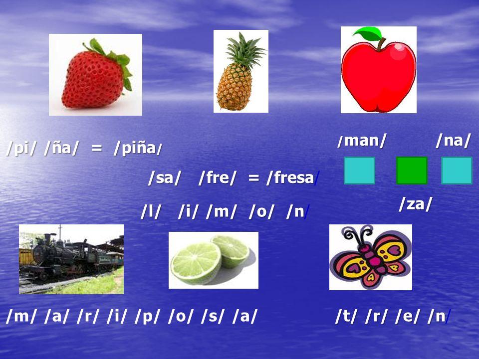 Unir la sílaba final Con la sílaba inicial