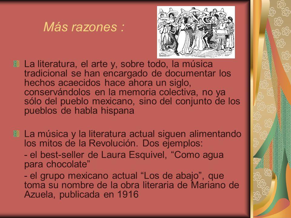 Visión romántica Lejos de presentarse como un hecho sangriento y dramático, la revolución mexicana presenta una visión idealizada, enmarcada por un halo de alegría popular, erotismo y picardía.