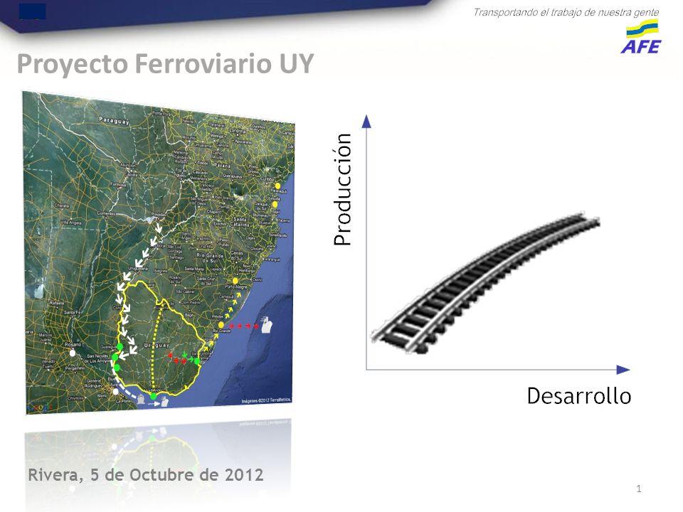 Proyecto Ferroviario UY 1 Rivera, 5 de Octubre de 2012