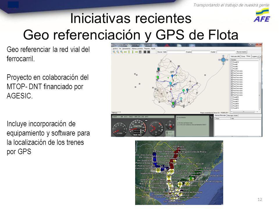 12 Geo referenciar la red vial del ferrocarril.
