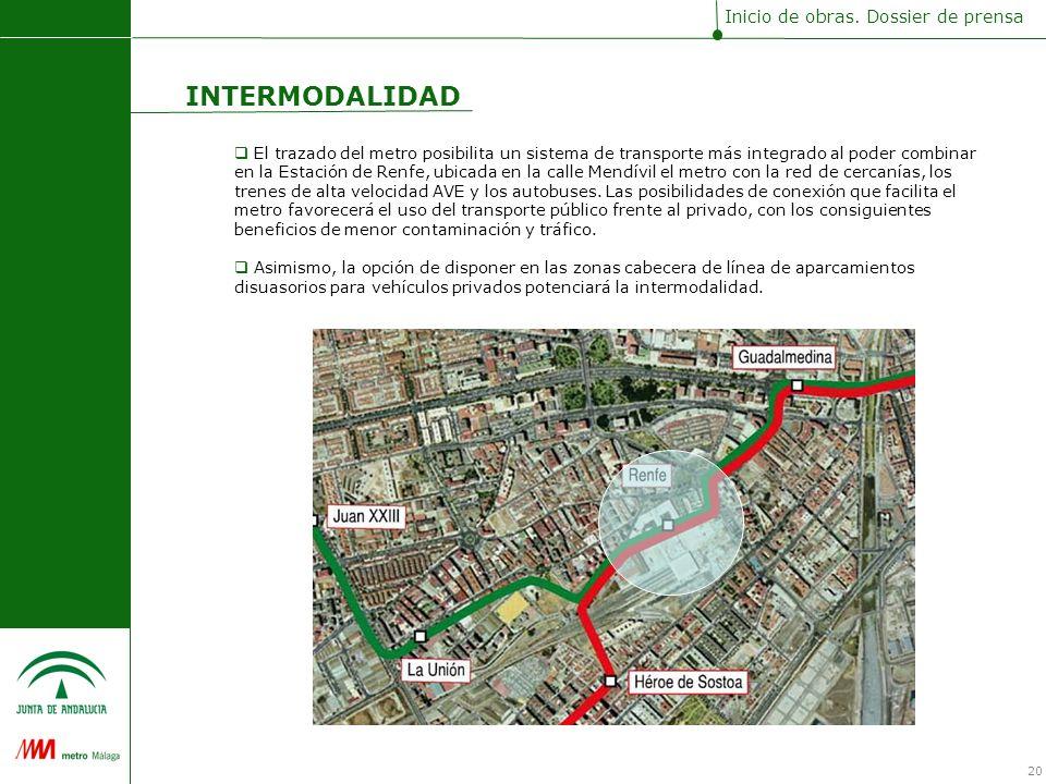 El trazado del metro posibilita un sistema de transporte más integrado al poder combinar en la Estación de Renfe, ubicada en la calle Mendívil el metro con la red de cercanías, los trenes de alta velocidad AVE y los autobuses.