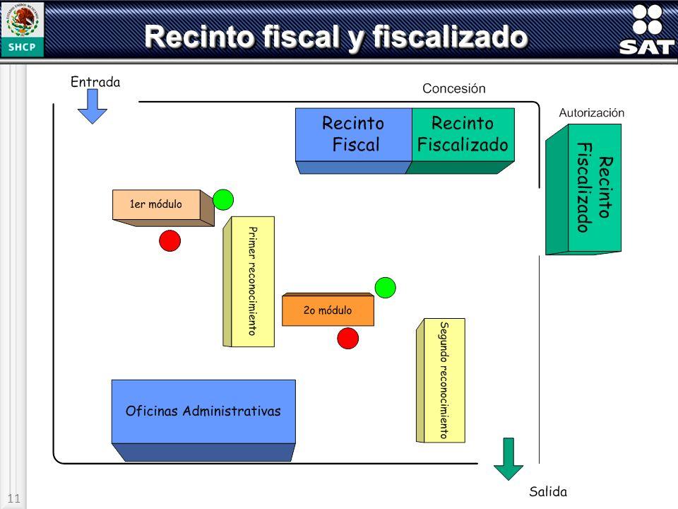 11 Recinto fiscal y fiscalizado