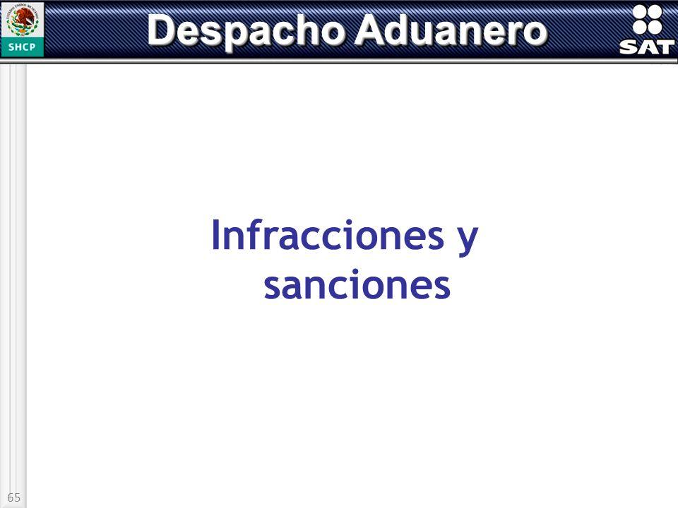 65 Despacho Aduanero Infracciones y sanciones