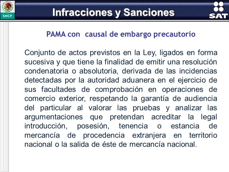 PAMA con causal de embargo precautorio Conjunto de actos previstos en la Ley, ligados en forma sucesiva y que tiene la finalidad de emitir una resoluc