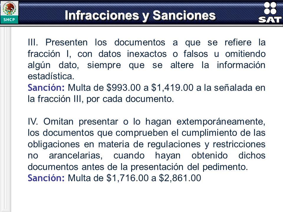 III. Presenten los documentos a que se refiere la fracción I, con datos inexactos o falsos u omitiendo algún dato, siempre que se altere la informació