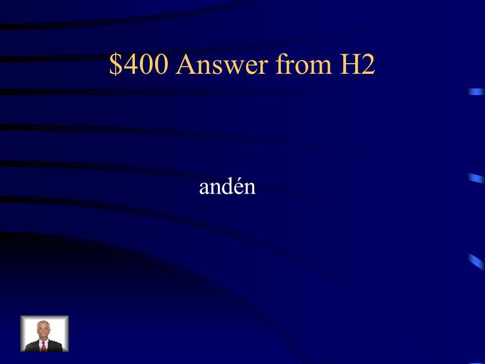 $400 Question from H2 El tren para Filadelfia saldrá del ___________ número 2.