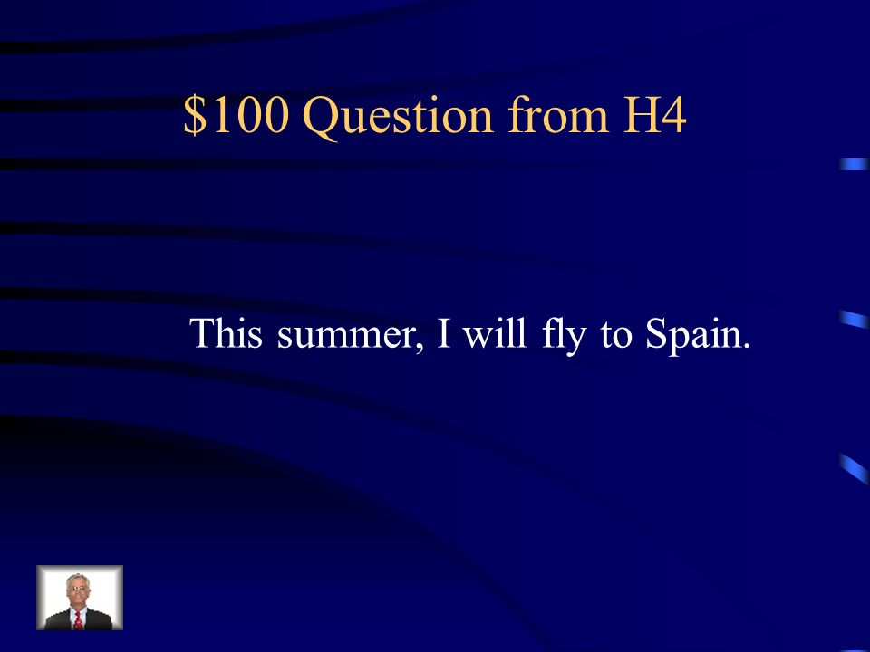 $500 Answer from H3 C. Aterrizaría ***When declarative verb is in past, the other verb is conditional (or another verb in the past).