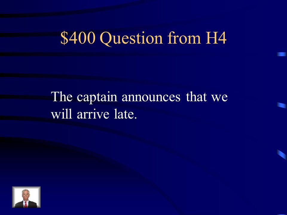 $300 Answer from H4 Si no tienes el pasaporte, no podrás pasar por la aduana.