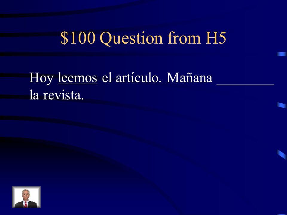 $500 Answer from H4 El piloto anunció que desembarcaríamos (del avión) por la puerta 13.