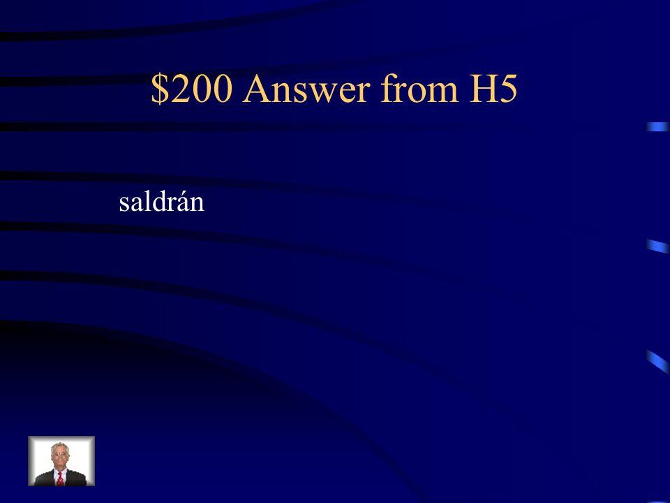 $200 Question from H5 Mis amigos salen ahora. Este fin de semana no __________.