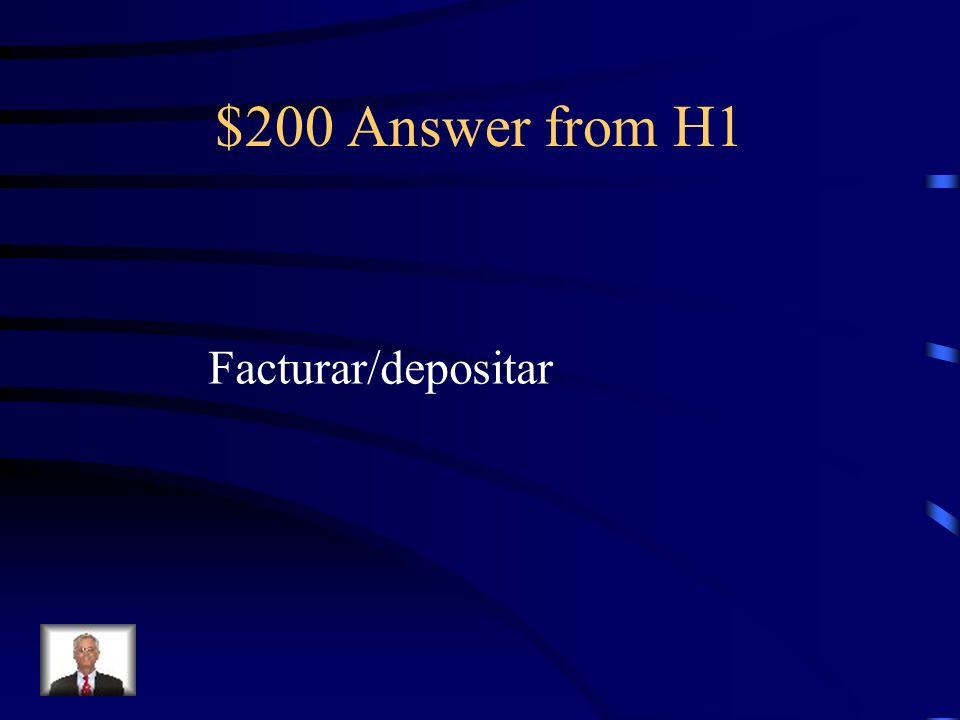 $200 Answer from H5 saldrán