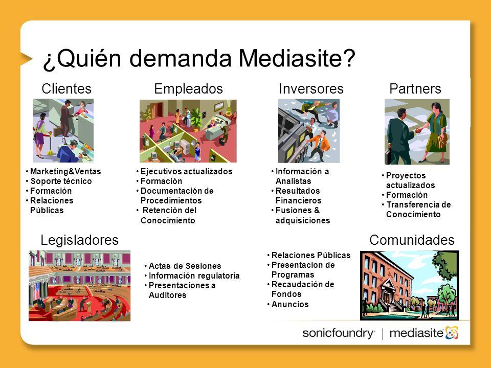 ¿Quién demanda Mediasite.