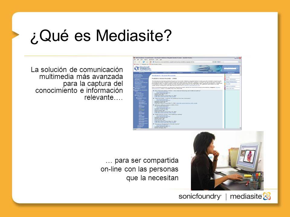 ¿Qué es Mediasite.