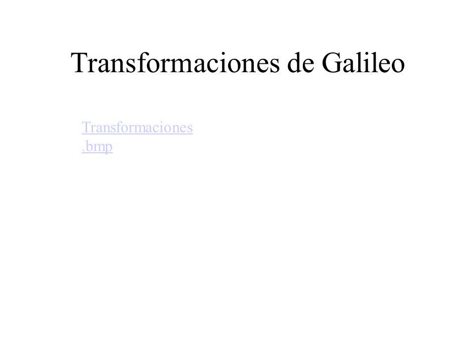 Transformaciones de Galileo Transformaciones.bmp