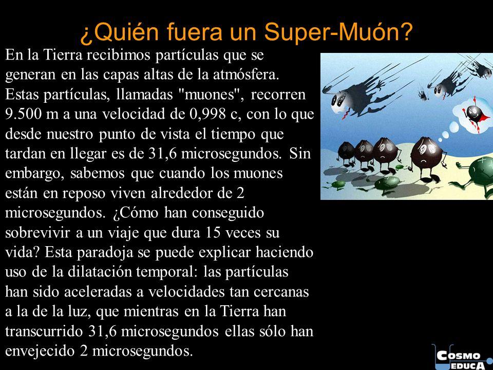 ¿Quién fuera un Super-Muón? En la Tierra recibimos partículas que se generan en las capas altas de la atmósfera. Estas partículas, llamadas