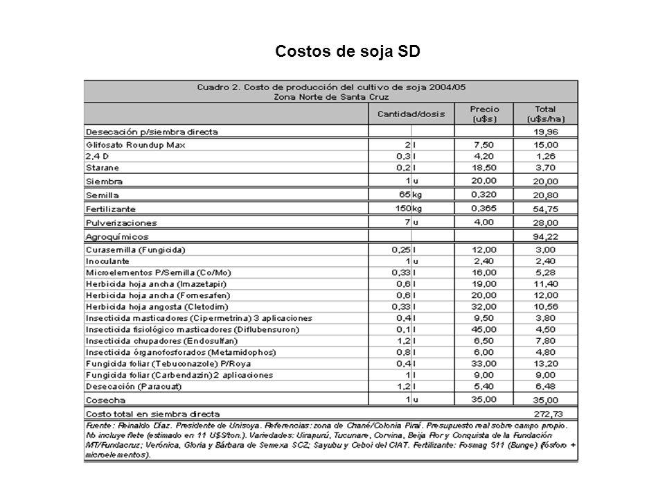 Costos de soja SD