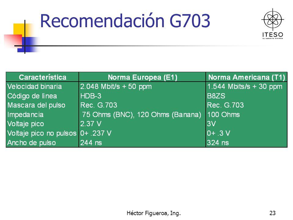 Héctor Figueroa, Ing.23 Recomendación G703