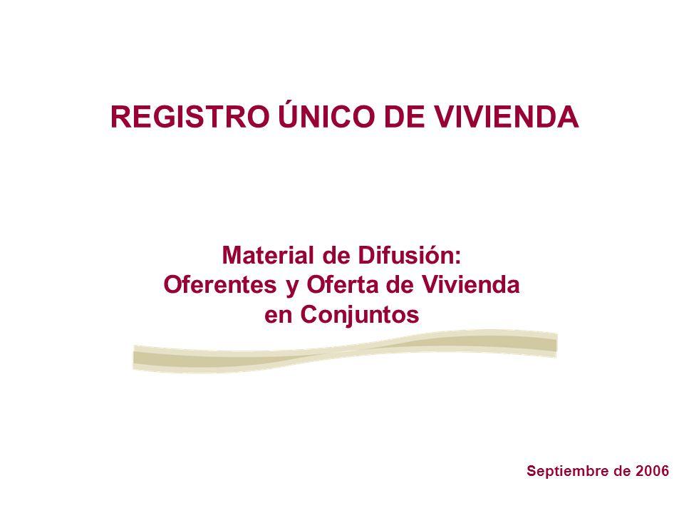 Al ingresar a la aplicación del RUV para el registro de oferentes, se desplegará el Menú de Registro con las siguientes opciones: 1.