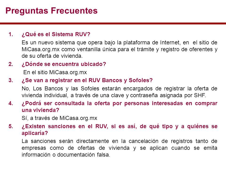 Preguntas Frecuentes 1.¿Qué es el Sistema RUV.