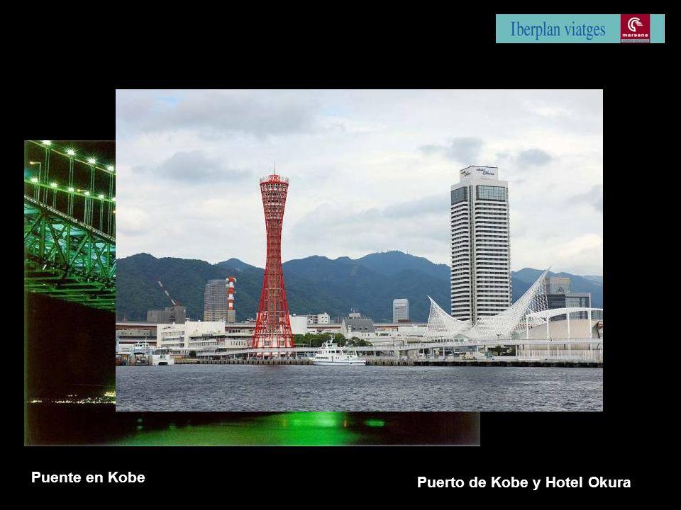 Puente en Kobe Puerto de Kobe y Hotel Okura