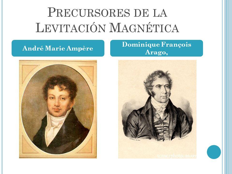 P RECURSORES DE LA L EVITACIÓN M AGNÉTICA André Marie Ampère Dominique François Arago,