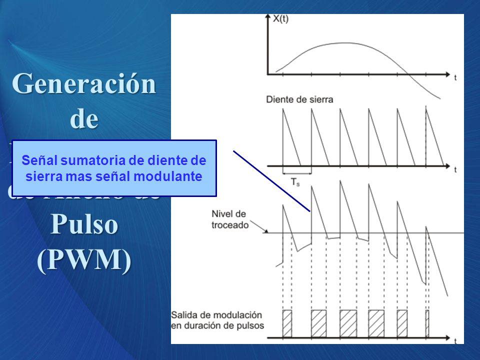 Señal sumatoria de diente de sierra mas señal modulante