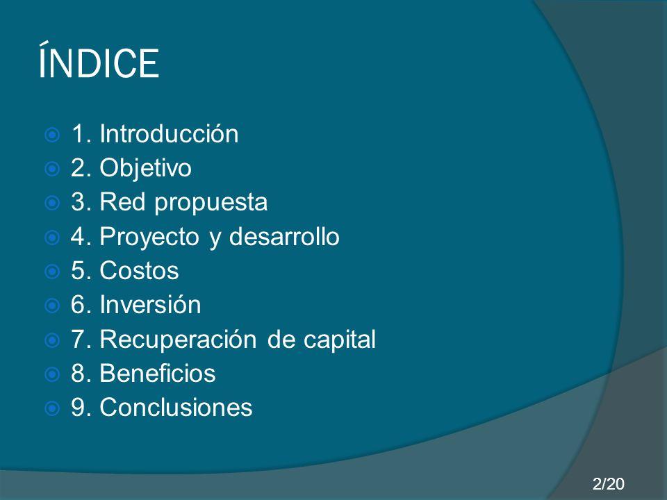 ÍNDICE 1. Introducción 2. Objetivo 3. Red propuesta 4.