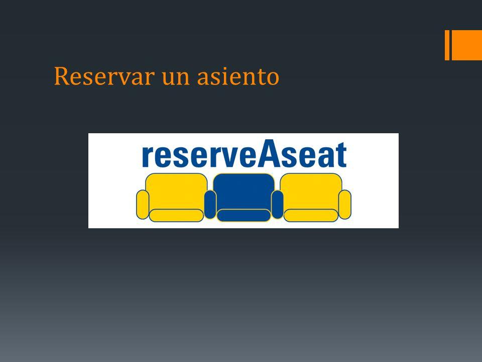 Reservar un asiento