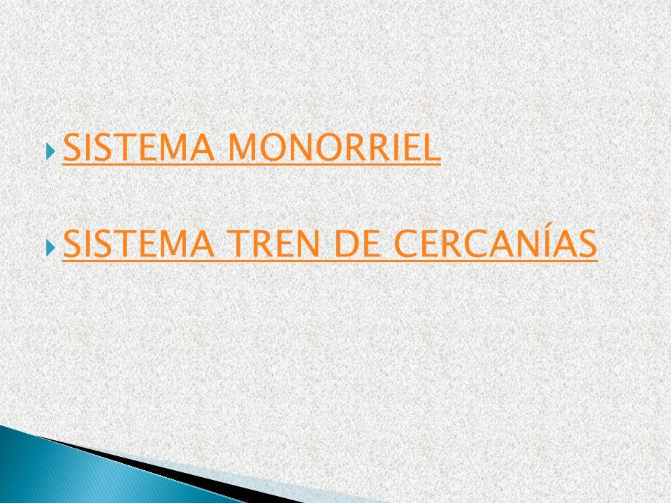 SISTEMA MONORRIEL SISTEMA TREN DE CERCANÍAS
