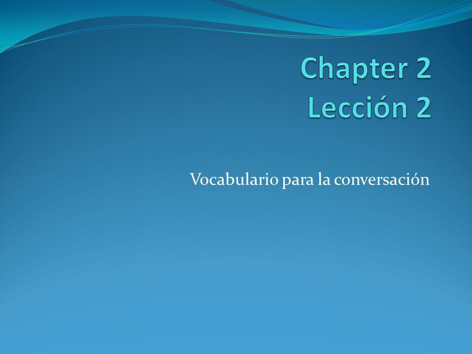 Vocabulario para la conversación