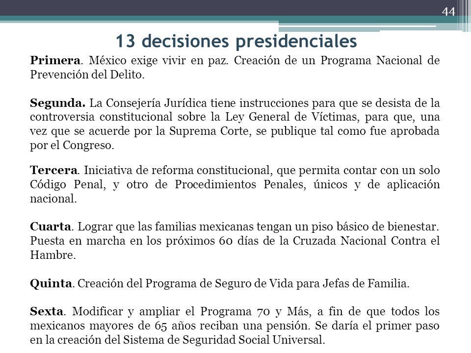 13 decisiones presidenciales Séptima.Reforma Educativa.