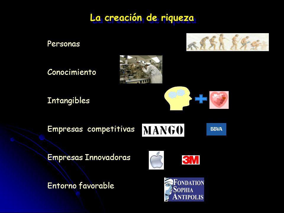 Pilares de la Economía del Conocimiento: 1.Una base humana experta y educada para adquirir, compartir y crear el conocimiento. 2. Una red de centros d