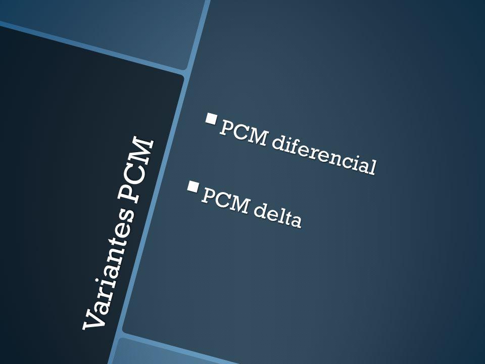 Variantes PCM PCM diferencial PCM diferencial PCM delta PCM delta