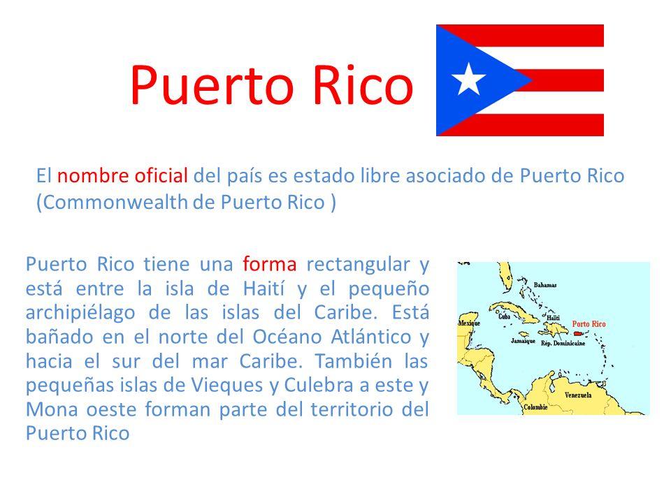 La superficie de la isla es 9.104 km 2 En el centro está atravesada por la escarpada Cordillera Central que tiene el pico mas alto en el monte Cerro la Punta Adjetivo gentilicio puertorriqueño portorriqueño boricua borinqueño borincano