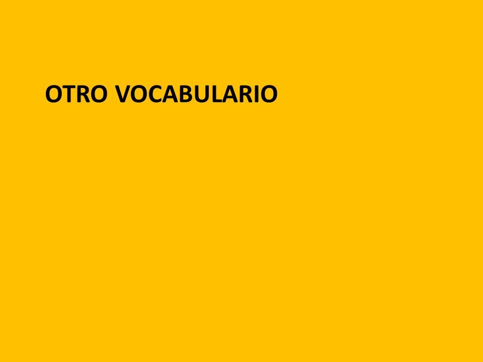 OTRO VOCABULARIO