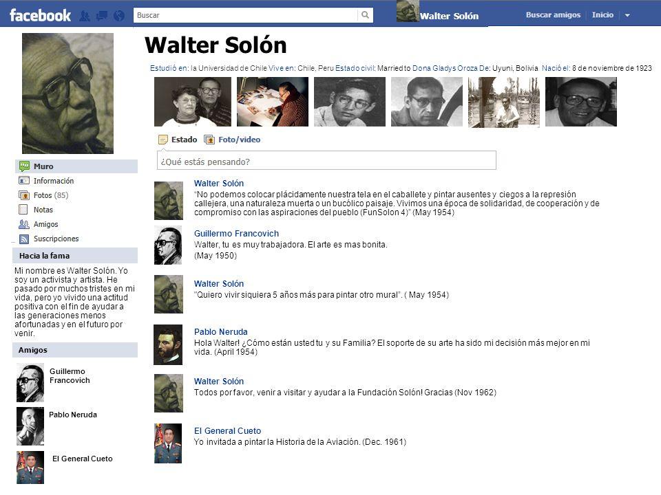 Guillermo Francovich Pablo Neruda El General Cueto Walter Solón Sobre Claude Yo soy un artista.