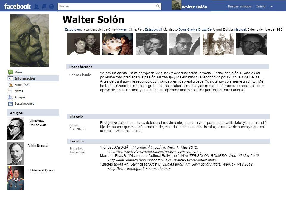Claude Monet El arte y la vida Por Walter Solon (Álbumes) * Actualizado hace 1 día Es mural dicia, Bolivia y el Mar.