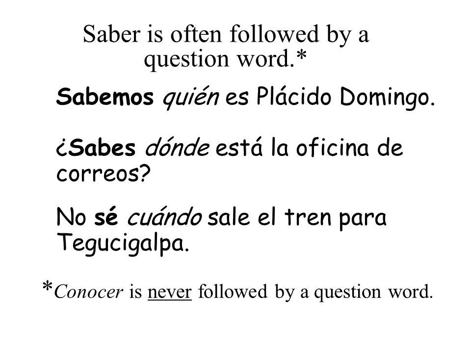 Saber is also used when we know something from memory (de memoria) Abuela Marta sabe el Himno Nacional Mexicano.