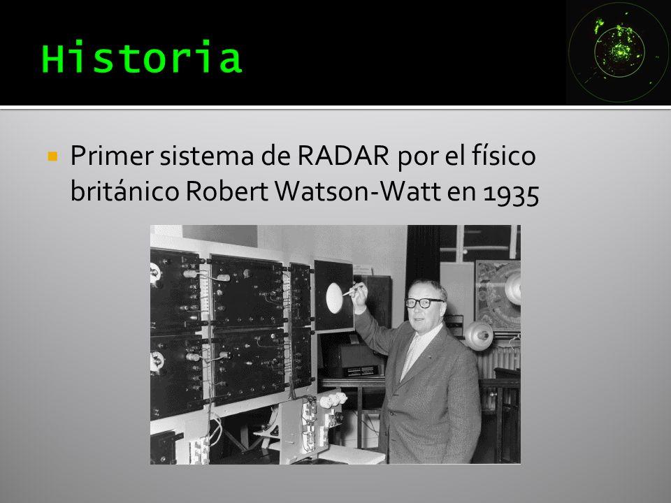 Primer sistema de RADAR por el físico británico Robert Watson-Watt en 1935