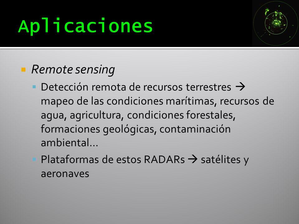 Remote sensing Detección remota de recursos terrestres mapeo de las condiciones marítimas, recursos de agua, agricultura, condiciones forestales, form