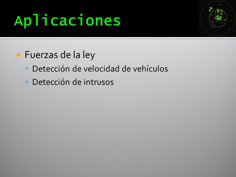 Fuerzas de la ley Detección de velocidad de vehículos Detección de intrusos