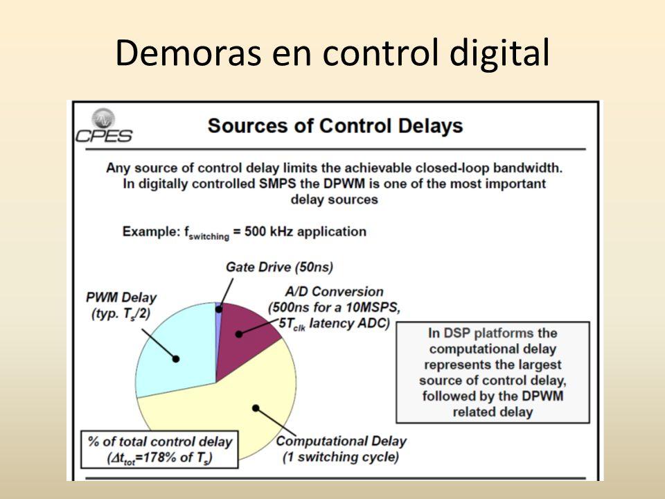 Demoras en control digital